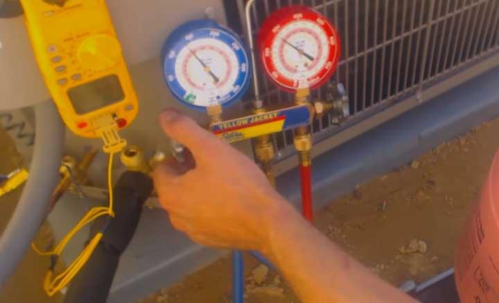 ricarica-gas-r32 condizionatore roma